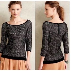 Anthro Moth Chenille Pullover Spotted Knit Top